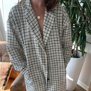 Topshop White and Black Blazer Jacket
